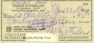 1429: Donald Sutherland Signed Check UACC PADA