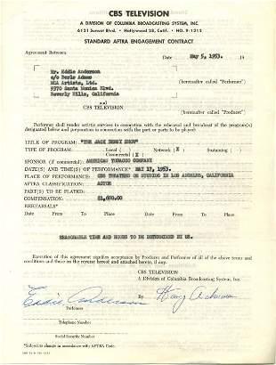 1430: Eddie Anderson Document Signed UACC PADA