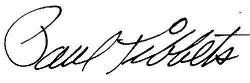 1860: Paul Tibbets Signed UACC PADA