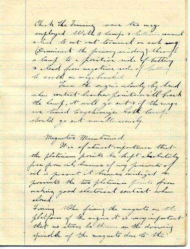 1861: Early 1920's handwritten avaiation manuscriptUACC