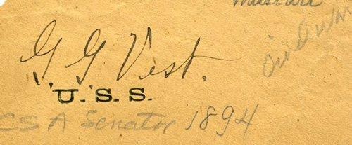 1864: George Vest Signed UACC PADA