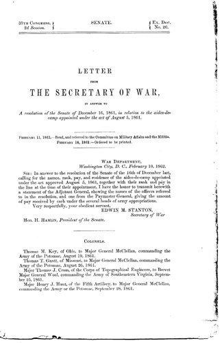 1867: Letter Civil War Document Signed UACC PADA