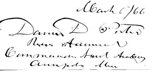1868: David D. Porter Signed UACC PADA
