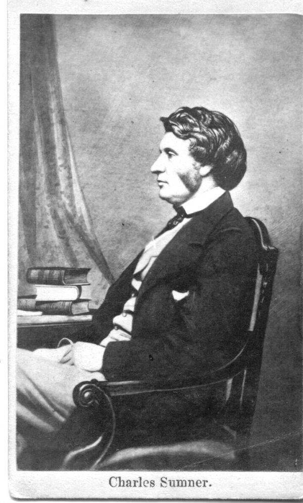 1870: Charles Sumner CDV UACC PADA