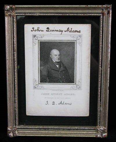 1: John Quincy Adams Signed Photo UACC PADA
