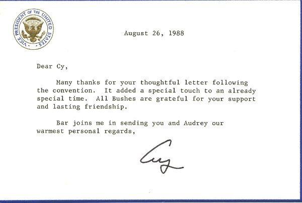 3: George Bush Letter Signed UACC PADA