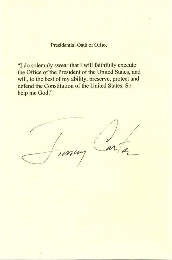 8: Jimmy Carter Letter Signed UACC PADA