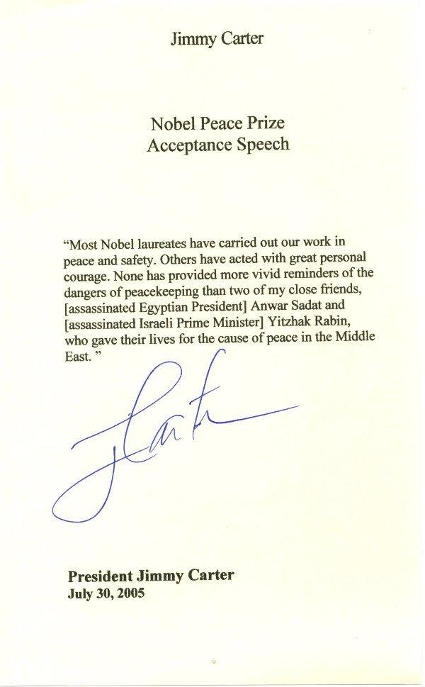 10: Jimmy Carter Letter Signed UACC PADA