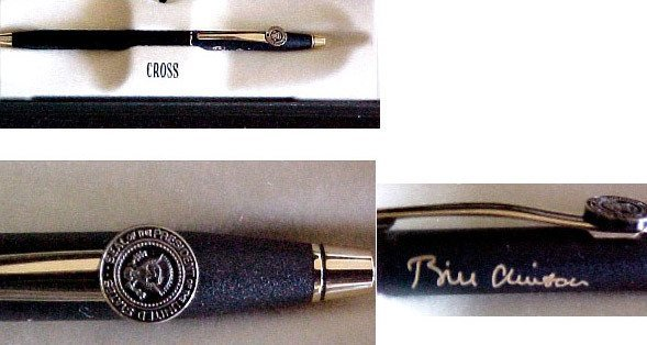 12: Billsigner Pen. [Clinton] Memorabilia UACC PADA