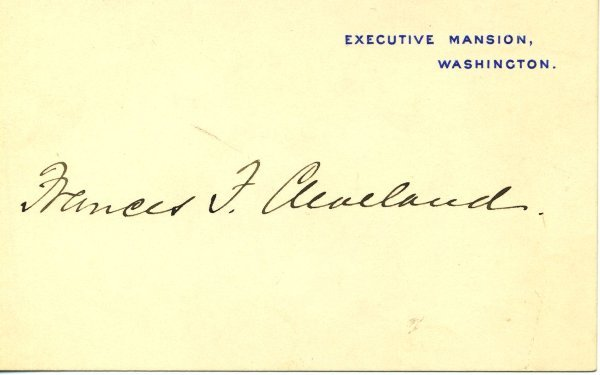16: Frances.  P Cleveland Document Signed UACC PADA