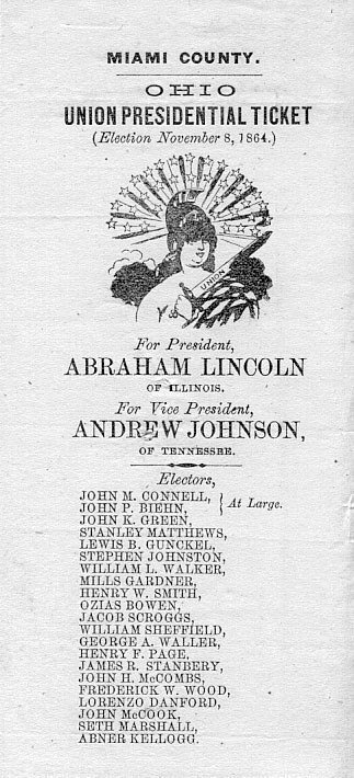 57: Abraham Lincoln 1864 Election Ticket