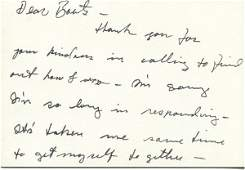 394: Marlon Brando Autograph Letter Signed UACC PADA
