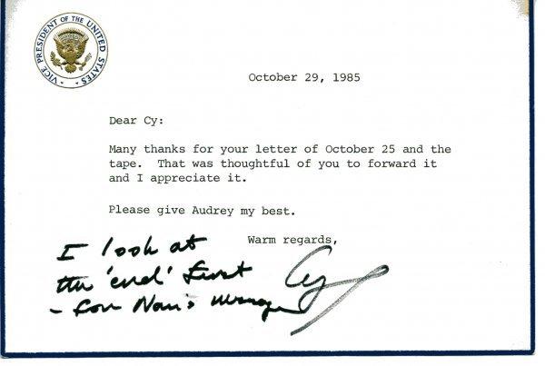 1004: George Bush Autograph Letter Signed UACC PADA