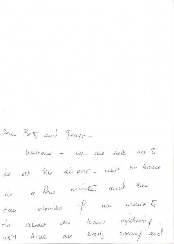 1007: Barbara Bush Autograph Letter Signed UACC PADA