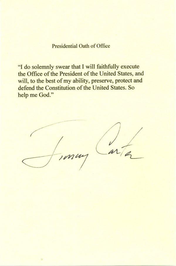 1008: Jimmy Carter Letter Signed UACC PADA