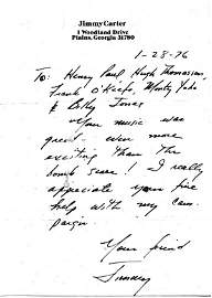 1009: Jimmy  Carter  Autograph Letter Signed UACC PADA