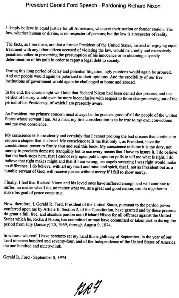 1027: Gerald Ford Letter Signed UACC PADA