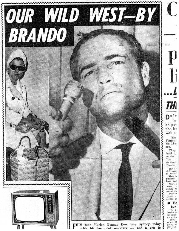 1448: Brando's Tie with Photo of him wearing it UACC PA