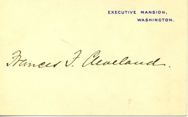 1016: Frances. P Cleveland Document Signed UACC PADA