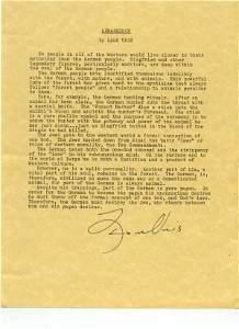 2135: Leon Uris Document Signed UACC PADA