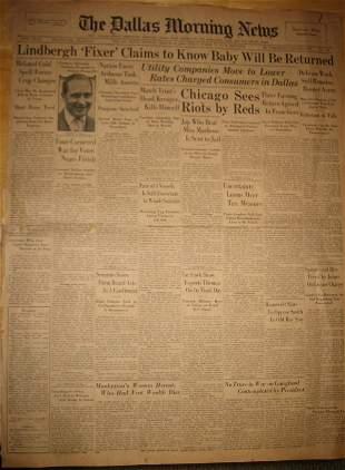 [Charles] [Lindbergh] Newspaper UACC PADA