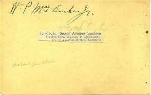 William P. MacCracken Signed UACC PADA