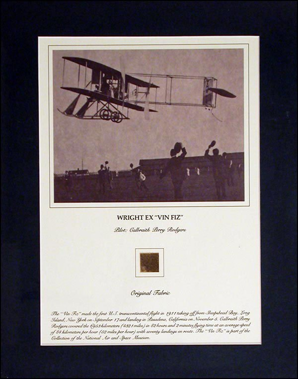 2011: WING PIECE of WRIGHT BROTHERS PLANe Smithsonian