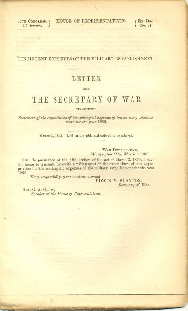 2014: Civil War Congressional Document UACC PADA