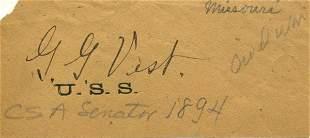 George Vest Signed UACC PADA