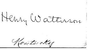 Henry Watterson Signed UACC PADA