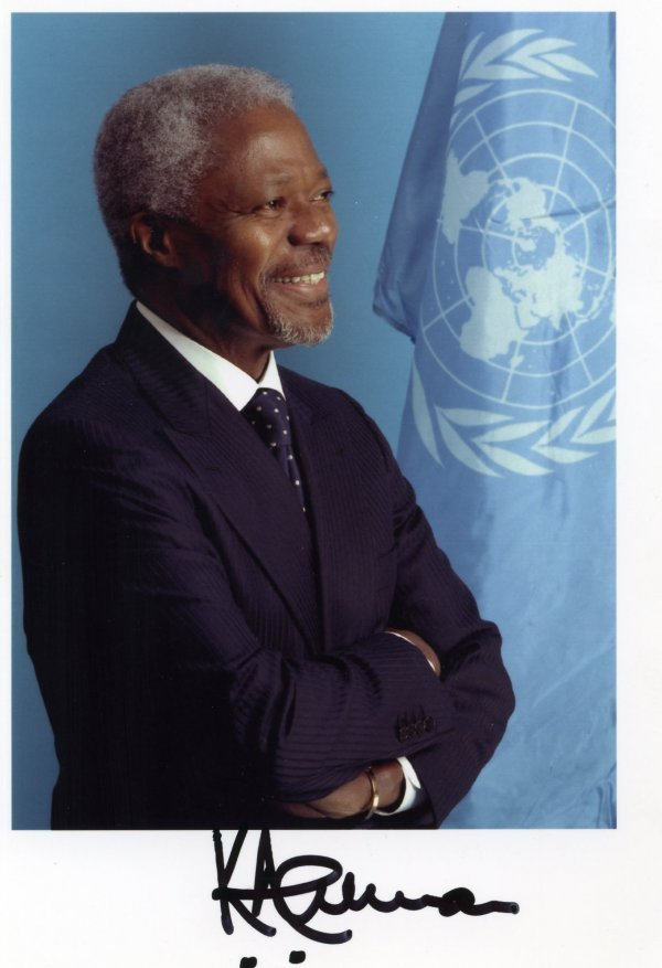 2026: Kofi  Annan  Signed Photo UACC PADA