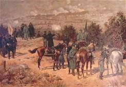 1161 1161 Louis Prang Battle of Chattanooga Memorabil