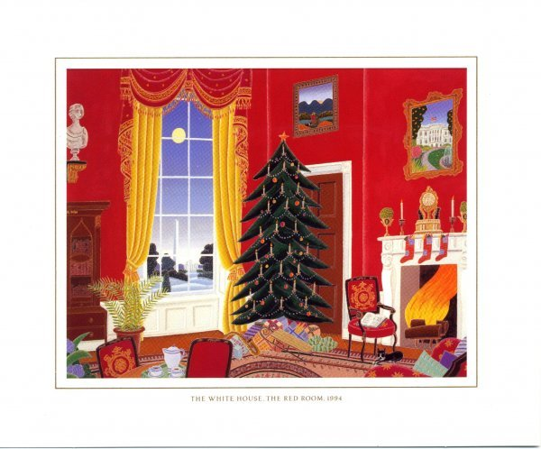 1019: Christmas Card [Clinton] Presidential Memorabili