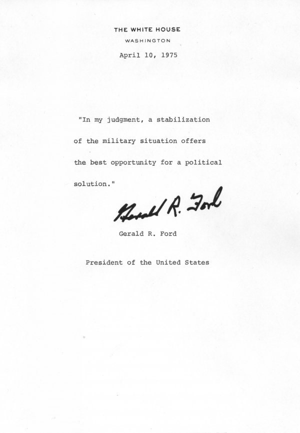 1023: Gerald Ford Document Signed UACC PADA