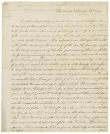 1044: Thomas Jefferson Letter Signed UACC PADA