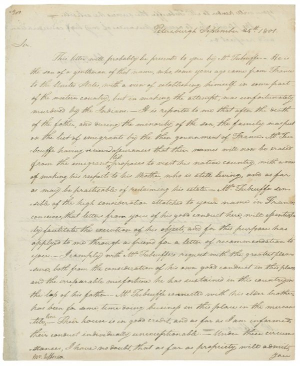 1044: Thomas Jefferson Letter Signed UACC PADA