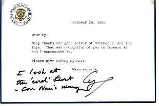 George Bush Autograph Letter Signed UACC PADA