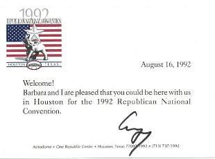 George Bush Letter Signed re: Republicans UACC PA