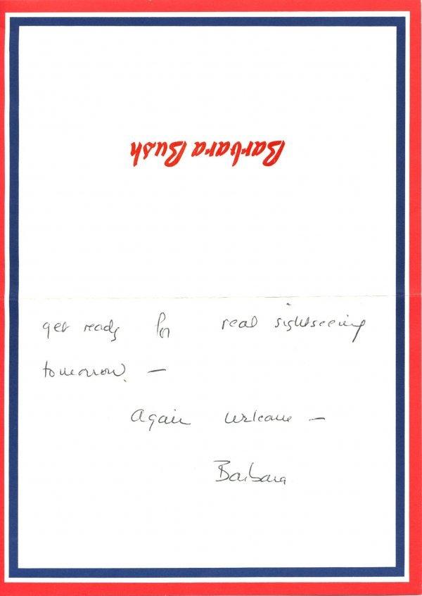 2005: Barbara Bush Autograph Letter Signed UACC PADA