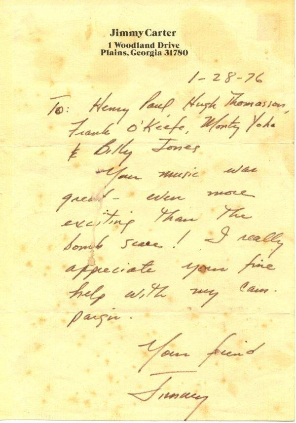 2009: Jimmy  Carter  Autograph Letter Signed UACC PADA