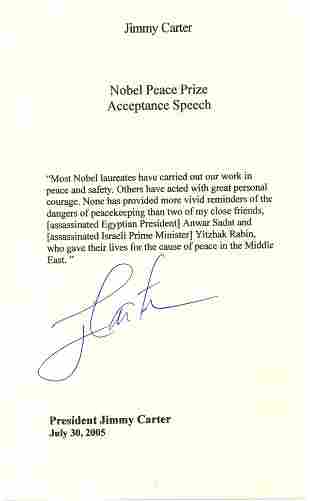 Jimmy Carter Typed Letter Signed UACC PADA