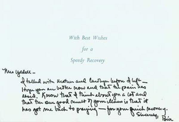 2022: Bill Clinton Autograph Letter Signed UACC PADA