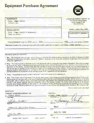 Jimmy Carter Document Signed UACC PADA