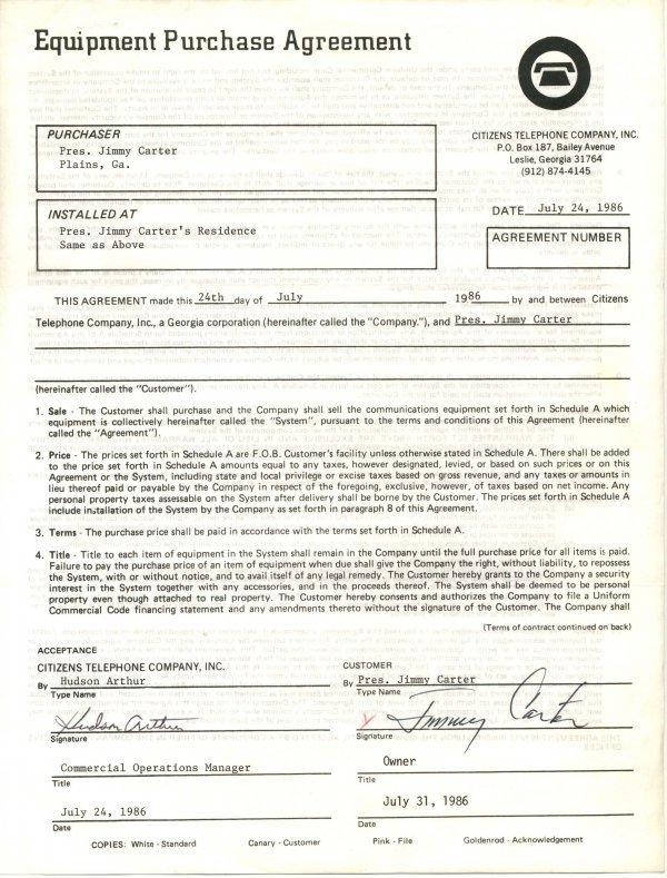 2025: Jimmy Carter Document Signed UACC PADA