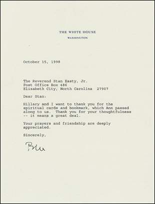 Bill Clinton Typed Letter Signed UACC PADA