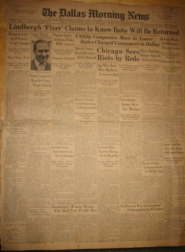 3008: [Charles] [Lindbergh] Newspaper UACC PADA