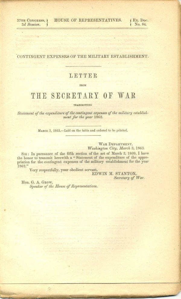 3014: Civil War Congressional Document UACC PADA