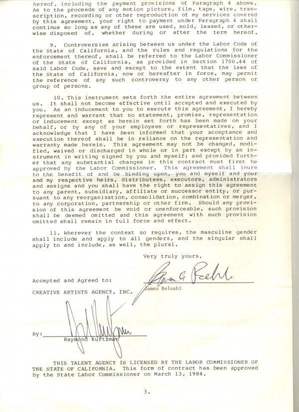 3050: James Belushi Document Signed UACC PADA