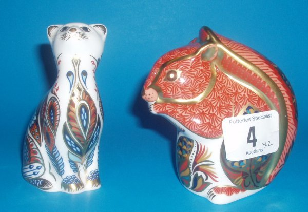 4: Royal Crown Derby Paperweights Seated Red Squirrel A