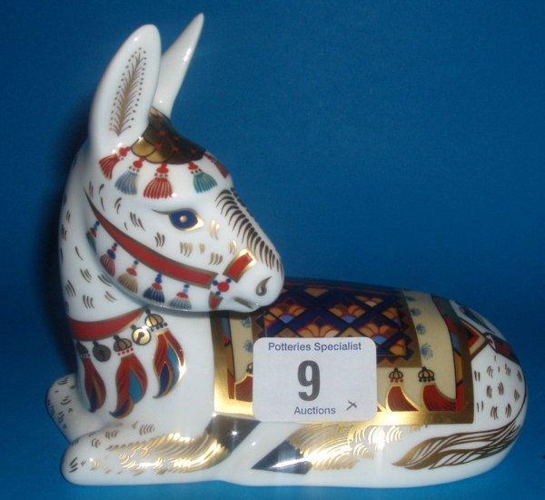 9: Royal Crown Derby Paperweight Thistle Donkey Limited
